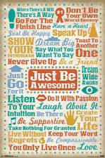 JUST BE AWESOME MOTIVATIONAL INSPIRATIONAL POSTER NEW 22x34 FAST FREE SHIPPING