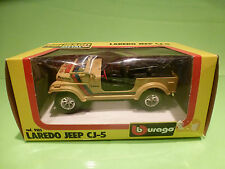 BBURAGO 9103 JEEP CJ-5 LAREDO - RALLY STP - SAHARA BROWN 1:24 - GOOD IN BOX