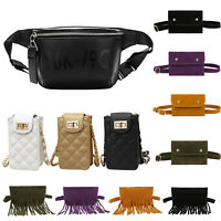 Women Leather Waist Fanny Pack Belt Bag Pouch Travel Hip Purse Chest Hangbags