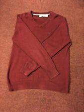 CREW CLOTHING   MENS  V NECK   RED JUMPER   MEDIUM