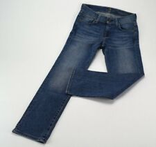 7 For All Mankind Woman's Size 24 Medium Wash Straight Cropped Capri Denim Jeans