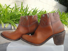 Golden Goose Deluxe Brand CUT OFF COLLECTION Cowboy Boots, Brown Women's EUR38