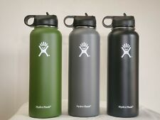 Hydro-Flask 40oz stainless steel insulated Water Bottle New with straw cleaner