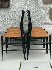 Lot 6 chaises type chiavari spinetto? Ponti? Black Lacquered chair leggera 2kg