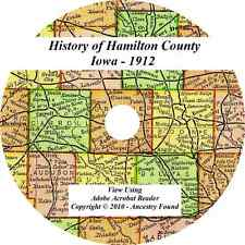 1912- HAMILTON County Iowa IA - History Genealogy Ancestry -  Webster City CD