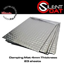 SILENT Coat-Extra 4mm Sound smorzamento BULK PACK 23 FOGLI 375 x 265 mm