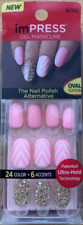 imPRESS 30 press on false nails in baby pink & alternative feature nails 62308