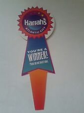 HARRAH'S CASINO & HOTEL COIN SLOT MACHINE WINNER FLAG ATLANTIC CITY VINTAGE