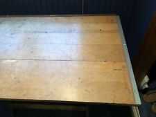 Vintage Anco Bilt adjustable drafting drawing table cast iron hardware architect