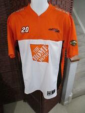 Men's NASCAR Home Depot Joe Gibbs Racing #20 Shirt 1/4 Zip Short Sleeve Large
