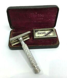 Antique Vintage Gillette Safety Razor in Case