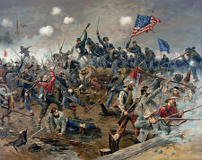American Civil War Art Battle of Spotsylvania Painting Real Canvas Art Print New