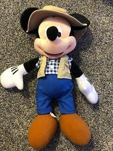"Disney Parks Authentic Original Gone Fishing Mickey Plush 15"""