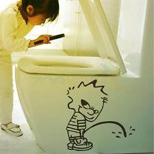 Lustige Karikatur-Männeken-Pis Muster Wandtattoos Wandbilder Badezimmer Toilette