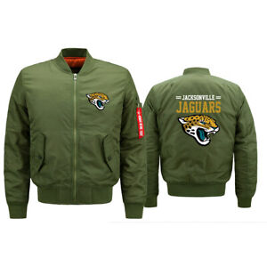 Jacksonville Jaguars Flying Pilot Bomber Jacket Thicken Hoodie Windproof Coat