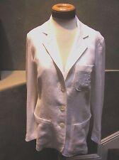 NWT Ralph Lauren White LINEN logo  3 button collar jacket blazer White 8