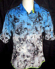 MENS BAR III LONG SLEEVE SNAP SHIRT SIZE S