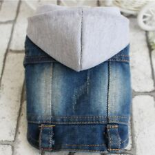 Pets Clothes New Vest Jean Cool Hoodie Soft Denim Cute Coat Jacket For Puppy Dog