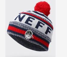 NEFF Youth Match Beanie - Navy/Orange