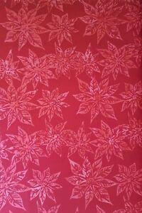 "New 43/44"" 100% Cotton, Hoffman Fabrics, Cherry Colored Poinsettias"