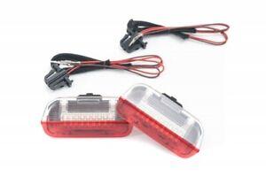 For VW Skoda Seat Interior Lower Rear Door Warning Light LED Panel Lamp White