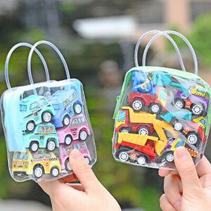 6pcs Kids Children Mini Small Truck Vehicle Pull Back Car Boy Girl NewYear Toy
