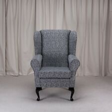 Westoe Armchair In A Como Charcoal Fabric   Free UK Mainland Delivery