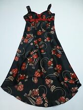 IN San Fransisco Junior Womens Size 9 Black & Red Floral Dress Great Condition
