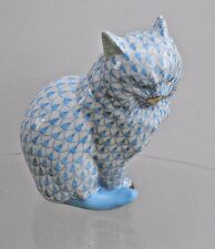 Herend - Hungary - Blue Fishnet Cat - mint condition