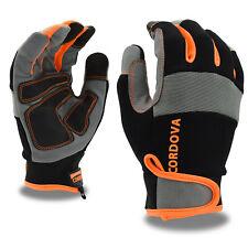 New listing Cordova Multi-Task Work Gloves Hi Vis Mechanic Style Touchscreen Fingers L
