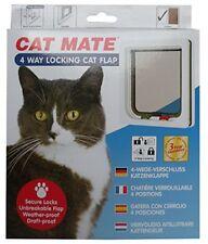 "Cat Mate 4-Way Locking Cat Flap 7.625""W x 7.875""H White"