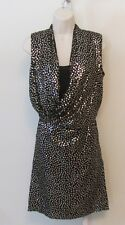 Diane von Furstenberg Issie dress goldo gold sequin black cocktail 0 New DVF