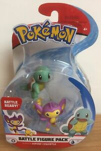 POKEMON BATTLE FIGURE PACK - AIPOM & SQUIRTLE - SERIES 3 - DAMAGED BOX