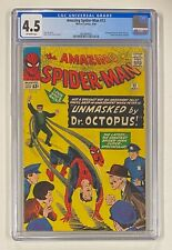 AMAZING SPIDER-MAN #12 Marvel Comics 1964 CGC 4.5 Doctor Octopus 3rd Appearance
