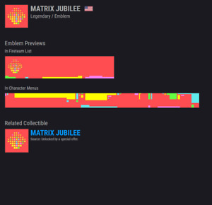 Destiny 2 Matrix Jubilee Emblem CODE AVAILABLE NOW!!!! INSTANT DELIVERY!!!!NEW!!