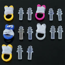 5 Set Soft Silicone Swimming Ear Plugs Plastic Nose Clip Swim Safe Acces UDF