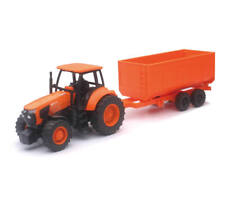 1:32 SCALE KUBOTA MS-111 TOY TRACTOR & WAGON SET DIE CAST & PLASTIC AGES 3+