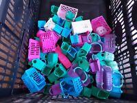 Large Shopkins baskets cases bundle ect