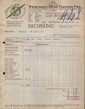 DRESDEN-A., KOH-I-NOOR-HAUS, Rechnung 1914, Waterman`s Ideal Fountain Pen