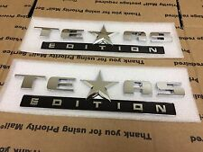 NEW FORD TRUCK REAR TRUNK TAILGATE FENDER TEXAS EDITION CHROME BLACK LETTERS 2