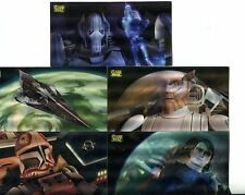 Star Wars Clone Wars Widevision Complete Flix Pix Chase Card Set #1-5