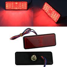 Red 24 SMD LED Reflector Tail Brake Stop Marker Light for ATV Truck Trailer Moto