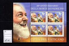 Città del Vaticano Padre Pio foglietto novità 2018