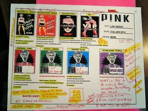 PINK TRUTH ABOUT  LOVE ORIGINAL CREDENTIAL GUIDE  MGM  GRAND VEGAS JAN 31 2014