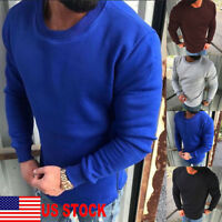 US Men Hoodie Sweatshirt Jumper Sweater Long Sleeve Casual T-Shirt Tops Pullover