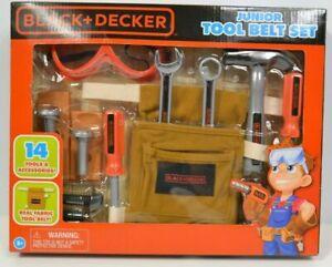 Toy Tool Belt Set Black & Decker Junior 14 Piece Toy Tool Belt Set