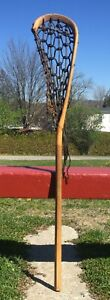 "Nice Vintage Wooden LACROSSE STICK 42"" Long LAX"