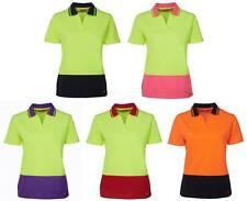 Hi Vis Ladies Short Sleeve Non Button Polo Shirt 6HNB1 | High Visibility, Work