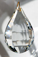 Huge 76mm Pear Matrix Crystal Clear Prism SunCatcher 3 inches