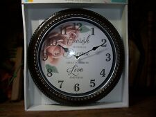 INTERIORS BY DESIGN WALL CLOCK CHERISH YESTERDAY DREAM ABOUT TOMORROW LIVE FOR